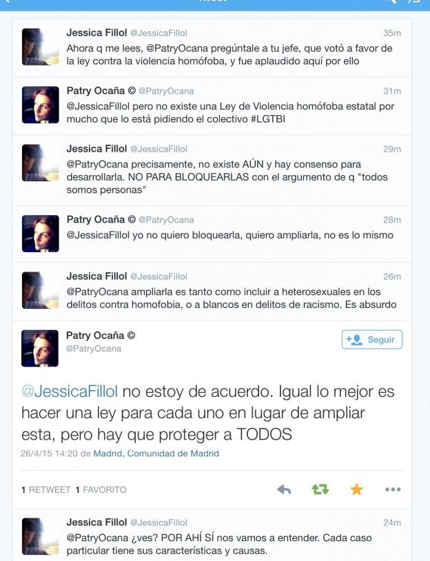 Tuits de Patry Ocaña sobre la LIVG