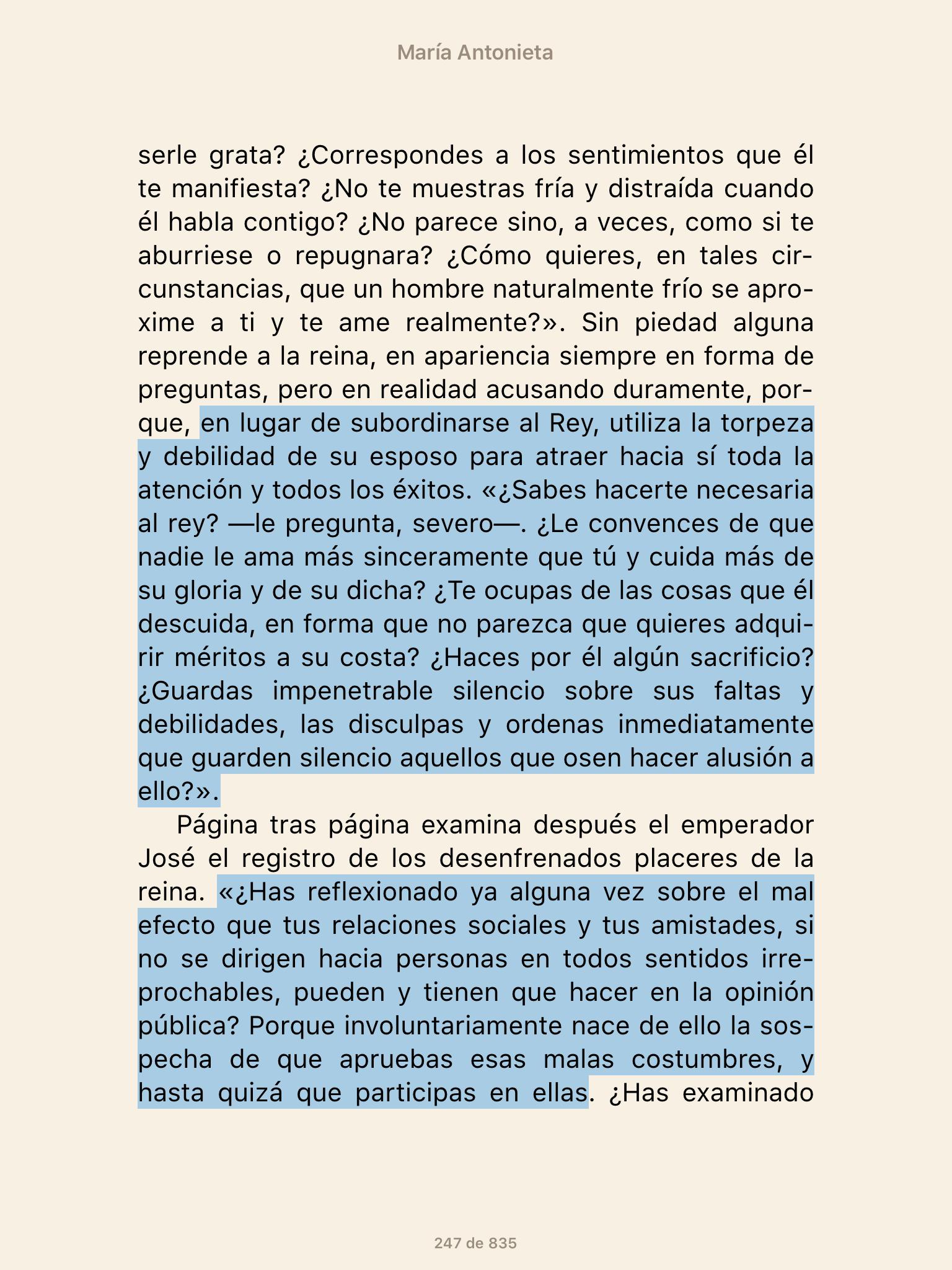 Fuente: Biografía de María Antonieta, de Stefan Zweig