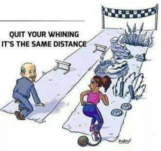 Deja de lloriquear, es la misma distancia