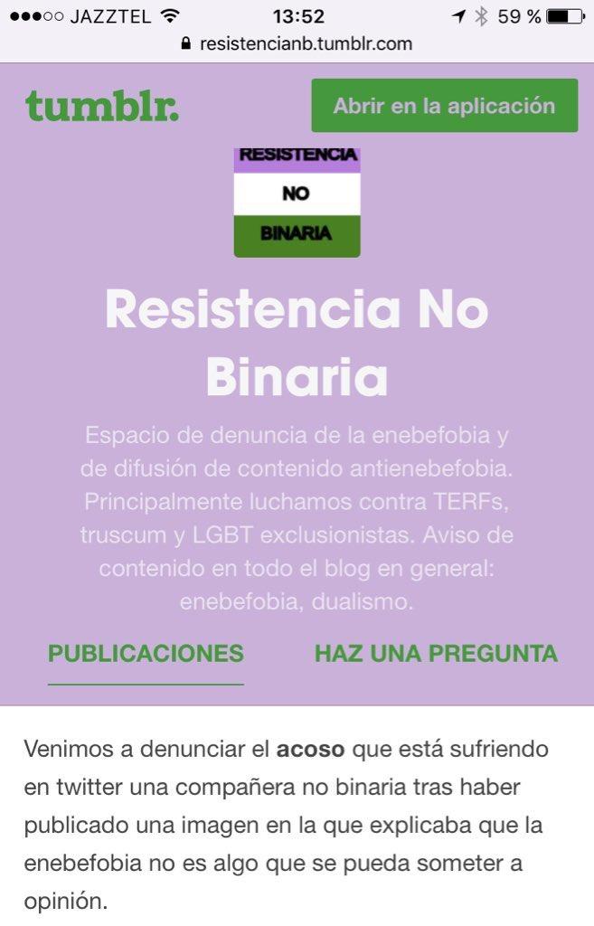 Somos resistencia no binaria, y nuestra prioridad es atacar a compañeras. Luchar contra el machismo ya si eso