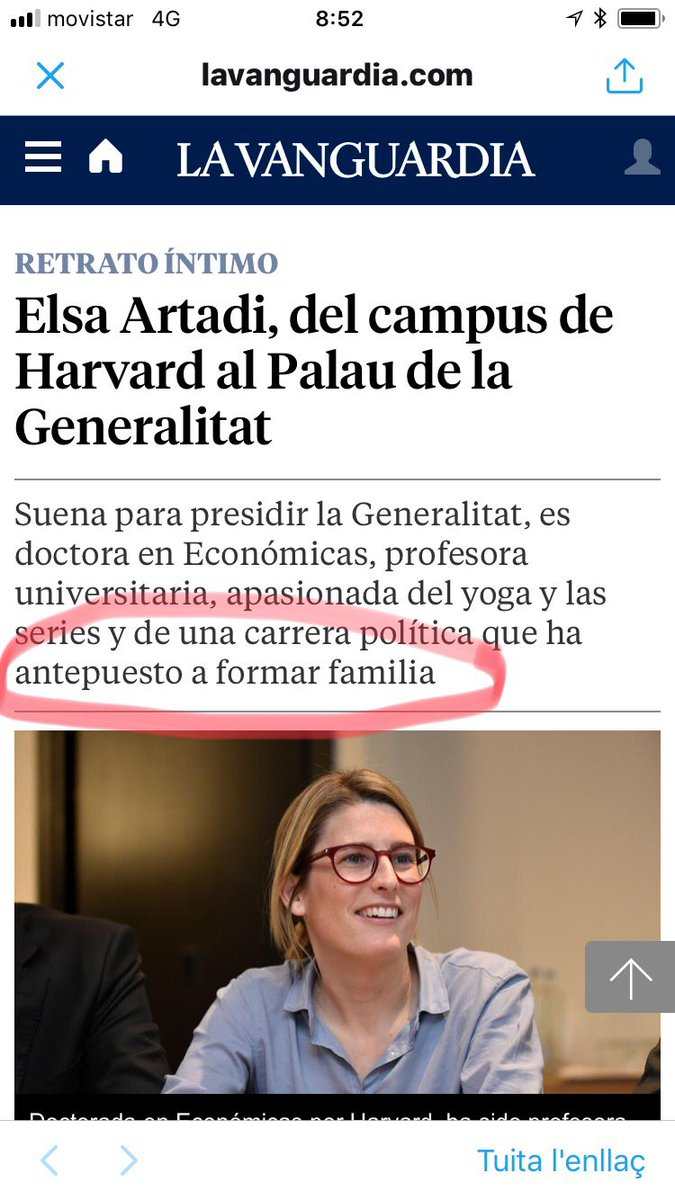 Elsa Artadi en La Vanguardia