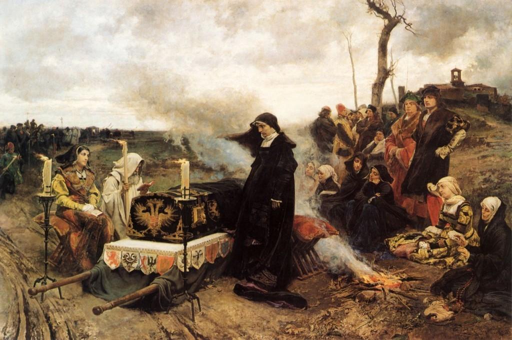 Peregrinación de doña Juana por el campo castellano