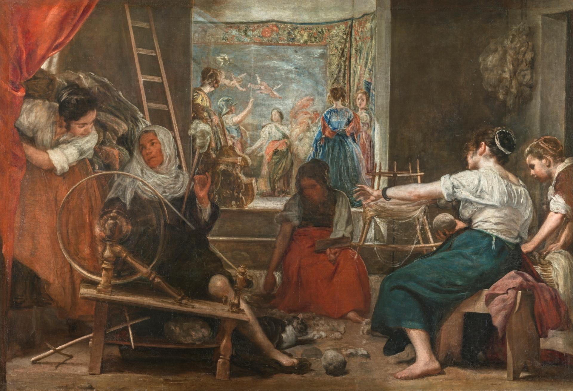 Las hilanderas o la fábula de Aracne. Autor: Diego Velázquez