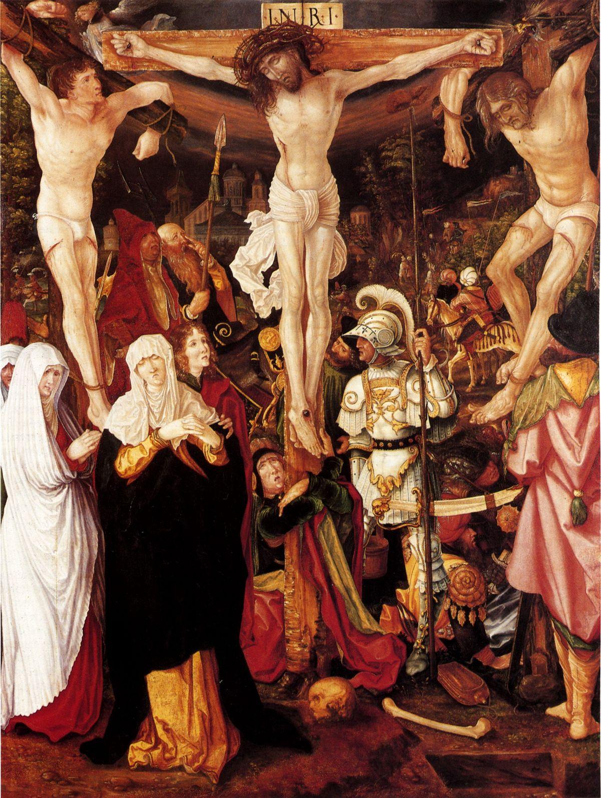 Representación de la crucifixión por Christoph Bockstorfer