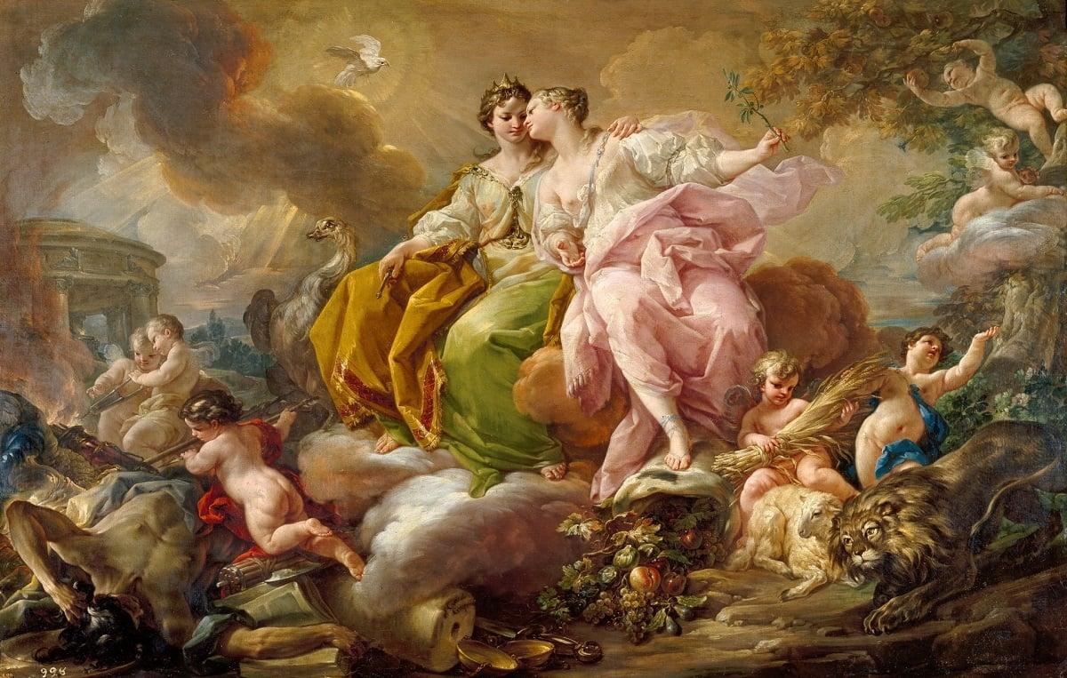 Corrado Giaquinto. Alegoría de la justicia y la paz. Museo del Prado