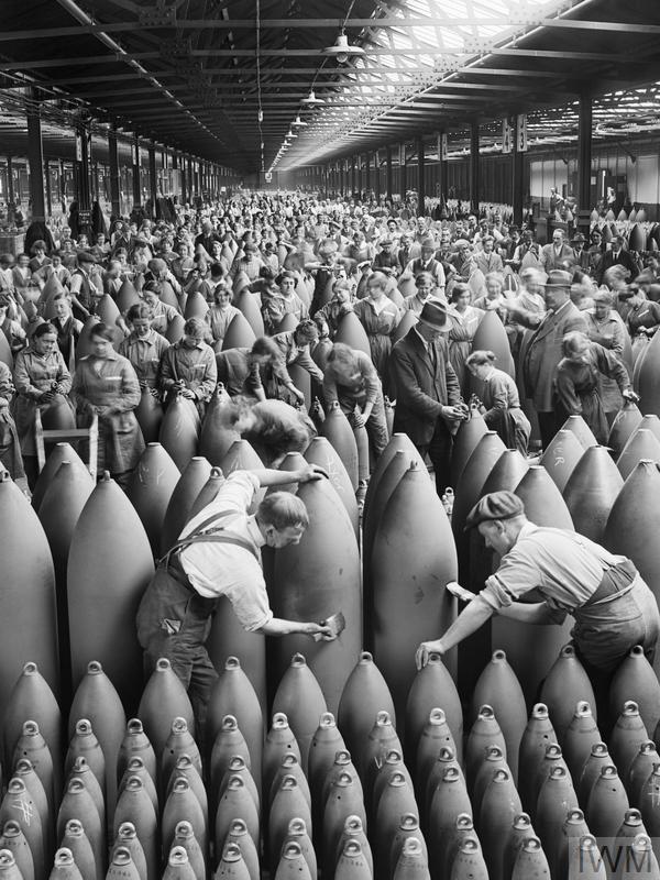 Producción de munición en el frente, 1914-1918